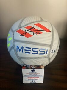 Lionel Leo Messi Auto Autographed Soccer Ball COA Barcelona Football