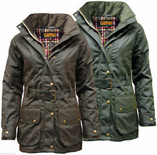 Popper Cotton Hip Length Outdoor Coats & Jackets for Women