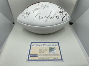 1997 Heisman SIGNED AUTOGRAPH FOOTBALL Peyton Manning Randy Moss Woodson & Leaf!