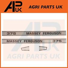 Massey Ferguson 375 Tractor Bonnet lado Calcomanía Pegatinas Transferencias Set Kit