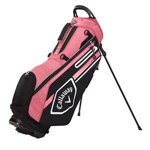 Callaway CHEV Stand Golf Bag - White/Black/Rose - New 2021