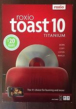 Roxio Toast 10 Titanium for Mac BURN COPY LISTEN WATCH BRAND NEW FACTORY SEALED