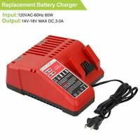 Replace M18 Lithium-ion Battery Charger for Milwaukee 14.4v - 18v Combo Charger