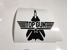 Top Gun Jet, Coche Decal/Adhesivo para Windows, parachoques, paneles, Laptop