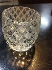 """Homco Small Diamond Clear Glass Votive Candle Holder/Starburst Base/2.75"""""""