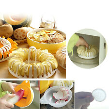 DIY Microwave Oven Baked Potato Chips Non-fried Machine Slicer Plate 8207