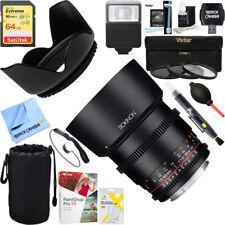 Rokinon DS 85mm T1.5 Full Frame Cine Lens for Canon EF Mount + 64GB Ultimate Kit