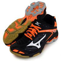 Mizuno Japan Men's WAVE LIGHTNING Z 3 Low Volleyball Shoes V1GA1700 Black Orange