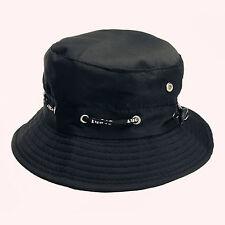 black Bucket Hat Hunting Fishing Outdoor Cap Men's Summer Sun Hats