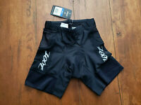 "ZOOT Mens X-Small Tri Shorts Black 7"" Inseam Padded Swim Bike Run Triathlon XS"