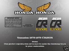 HONDA 1978-1979 CR250 TANK SIDE COVER DECALS GRAPHICS