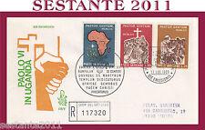 VATICANO FDC VENETIA 105 V 1969 VIAGGIO DEL PAPA  PAOLO VI IN UGANDA (349)