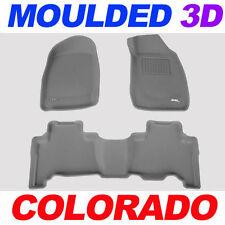For Holden Colorado Dual Cab 2008 - 4/2012 GREY 3D Rubber Car Floor Mats