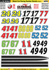Mg6440-2 1/24 High Def UltraCal Decals Stock Car Racing Number Decals Style 2