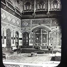 Interior Of Home House Damascus C1900 Antique Magic Lantern Glass Slide Photo