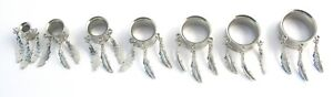 Dreamcatcher Surgical Steel Flesh Tunnel Ear Plug Screw Body Jewellery Lobe