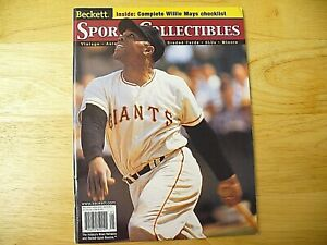 """Beckett Sports Collectibles Magazine - """"Willie Mays"""" - May 2000 - NICE"""
