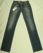 Lee Denim Jeans Straight Stretch L2 Deep Blue Fit 29w Tag Sz 7 Short