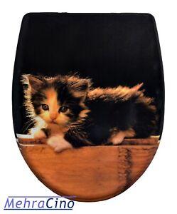 WC-Sitz Toilettendeckel Katze mit Absenkautomatik und Abnehmbar-86