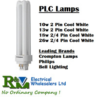 PL-C Biax D Double Turn Compact Fluorescent 10/13/18/26W 2pin/4pin Branded Lamps