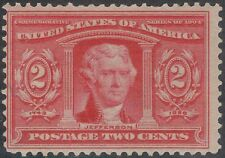 TMM* 1904 US 2c US LA Purchase Stamp Scott #324 Fine mint/light hinge/old gum