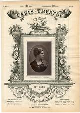 Lemercier, Paris-Théâtre, Marie Léonide Charvin dite Agar (1832-1891), actrice V
