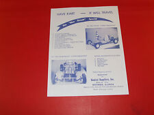 Wow! Vintage & Rare Central Supplier Go Kart Hand Out , Mailer, Sales Catalog