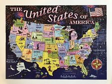*Pre-owned* Ravensburger Puzzle - Statemap United States of America (100 pieces)