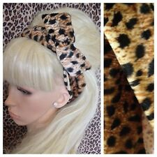 Marrone Finta Pelliccia Leopardo Animal Print Bendy FILO WIRED capelli Head Band Stile Retrò
