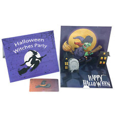 3D Laser Cut Wicked Witch Paper Invitation Greeting Card Halloween Party G IY