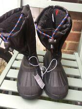 size 2 EU 34 older boy Snow Boots Waterproof Shoe Fur Linen Casual