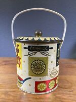 """Baret Ware Homestead Biscuit Barrel with Handle 7"""" Tall Made in England"""