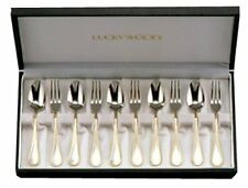 LUCKYWOOD French Accent 10pc Coffee spoon and cocktail fork Set from Japan