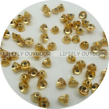 4mm x 3mm, Gold Color, 25 Tungsten Coneheads, Cone Head, Fly Tying, Fishing