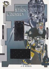 02-03 BAP J.S.Aubin Stick & Jersey Between The Pipes 2002 Penguins