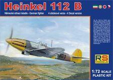 RS Models 1/72 Heinkel He112B-Hongrie, RAF, Tchèque, le japon Nº 9262