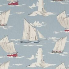 CLARKE AND CLARKE SKIPPER MARINE SAILING BOAT LIGHTHOUSE FABRIC