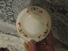 Vintage Hall Jewel Tea Autumn Leaf Fruit Dessert Berry Bowls 5 1/2""