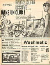 """Advertising 1964 washmatic laundries dry cleaners """"free service"""""""