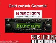 Radio Code Becker Ferrari Mexico Traffic Online Pro schnelle Hilfe / Mo - So