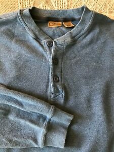 L.L. BEAN {XL} Waffle Knit Long Sleeve Pullover Thermal Henley