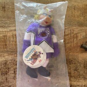 Miss Piggy Plush 1995 McDonald's Muppets NHL HOCKEY PLAYER Skates Helmet NOS