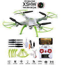 Syma X5HW-1 FPV 4CH RC Quadcopter Drone with HD Wifi Camera Hover Function White