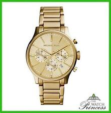 Michael Kors Women's Gold Plated Strap Wristwatches