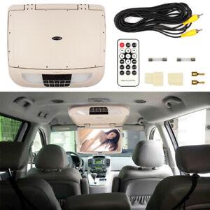 18.5'' Car Ceiling Monitor LCD TFT 12V Overhead Flip Down Digital Screen Beige