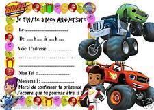 5 cartes invitations anniversaire Blaze et les Monster Machine 02