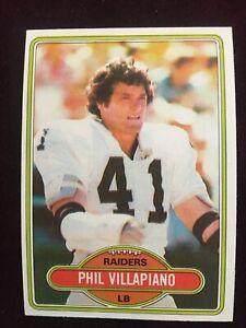 1980 Topps #23 Raiders Phil Villapiano Football Card