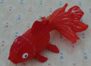 Plastic/Rubber Toy Orange Tetra-like Goldfish.