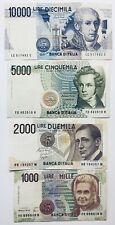 4 X ITALY BANKNOTES LIRA/LIRE ITALIAN PRE-EURO 1000 2000 5000 10000 1984+ EUROPE