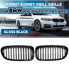 For BMW F10 F11 F18 528i 535i 5 Series 2010-2016 Front Grill Grille Gloss Black